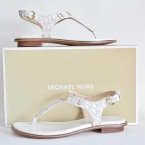 Michael Kors Plate Thong Logo Sandals
